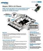 Adaptec 7805 in 1U Chassis